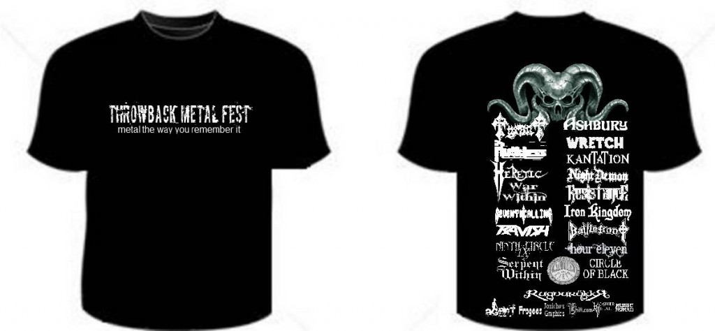 Throwback Metal Fest tshirt draft